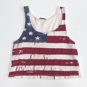American flag crop top